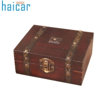 Haicar organizer Decorative Trinket Jewelry Storage Box Handmade Vintage Wooden Treasure Case u61024