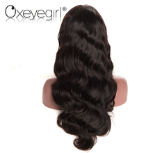 Oxeye girl Lace Front Human Hair Wigs With Baby Hair Brazilian Body Wave Wigs For Black Women Natural Color Non remy Hair