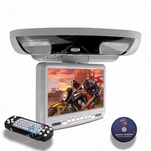 "XTRONS Grey Monitor 9"" Digital Screen Flip down In Car Roof Mounted Overhead DVD Player Built-in IR FM Transmitter Speakers(China)"