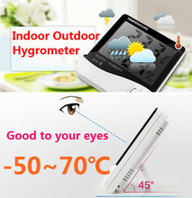 inside outside temperature Digital Thermometer Hygrometer Indoor Outdoor Househould Room Temperature Fahrenheit&Celsius Display