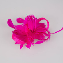 Free shipping retail and wholesale 17 color high quality kentucky sinamay fascinator hats very nice bridal hair accessoires,FS14(China)