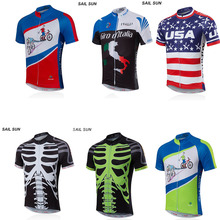 SAIL SUN Mens Bicycle Team Cylcing Clothing/Cycling Jersey Top Short Sleeved T-Shirt Tops()