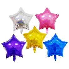 18 inch Laser Star Flashing Bright Foil Balloons Glisten Shiny Five Stars High-end Birthday Party Wedding Decoration Kids Toy
