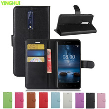 Luxury Case For Nokia 8 Case Nokia 8 Phone Card Slot Stand Wallet Leather Flip Cover For Nokia 8 Bag Skin Cases(China)