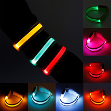 2017 Multi Colors Arm Warmer Belt Bike LED Armband LED Safety Sports Charged Belt For Outdoor Activities