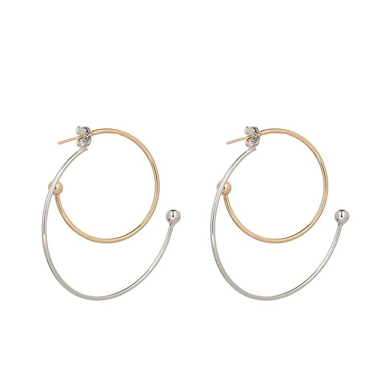 2018 New Fashion Big Swirl Hoop Earrings For Women Bohemian Geometric Earring Female Punk Round Boho Jewelry