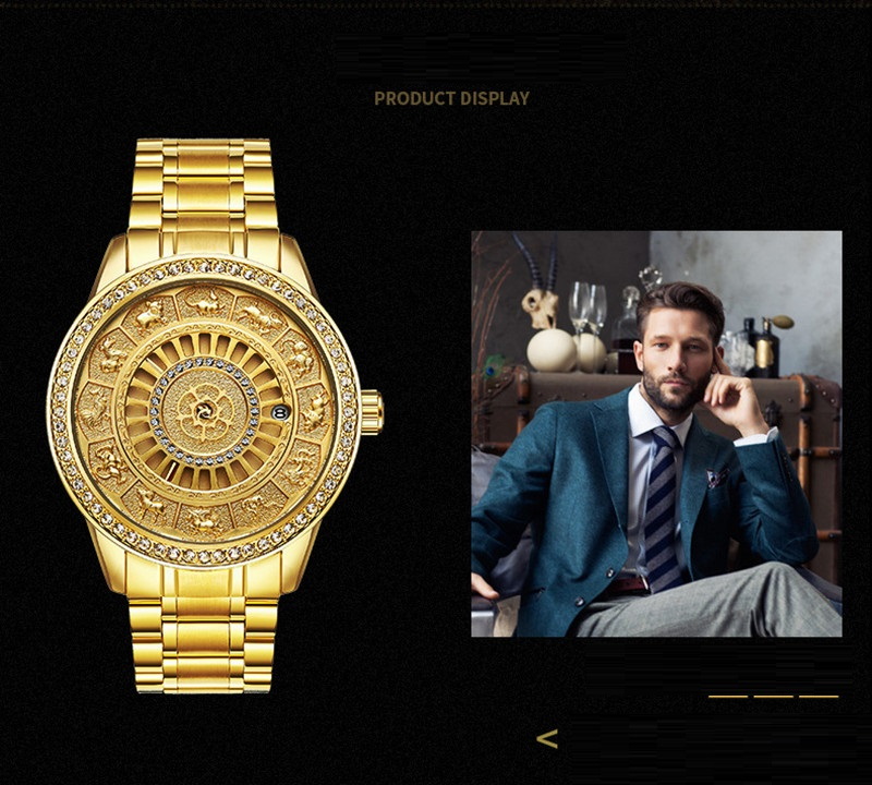 02018 New TEVISE Zodiac Signs Men Watch Automatic Mechanical Wristwatches Limited Edition Watch Men Gold Male Clock saat erkekler (13)