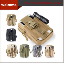 Waterproof Molle Military Waist Belt Zipper Phone Bag Universal Outdoor Case Pouch For iPhone Samsung Galaxy Sony HTC LG Huawei