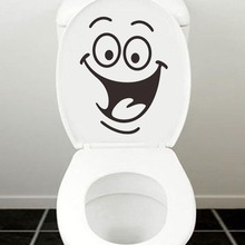 Hot Sale Smiley Face Funny Toilet Bathroom Decal Seat Decor Removable DIY Wall Stickers Lowest Price High Quality