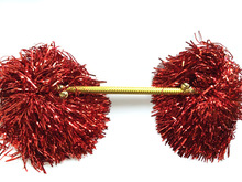 Cheerleading Pom Poms Cheerleader Pompons Competition Pons Dance Poms With Bells,Double Head,30g,20-50cm,6pair(12pcs/lot),7color