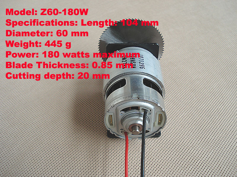 12V-18V no-load current motor with saw blade set as for mini Automatic lawn mower Wood crafts cutting machine<br><br>Aliexpress