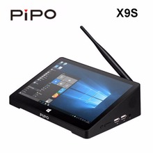 2017 PIPO X9S Mini PC 8.9 inch Smart TV BOX Dual OS Windows 10/Android 4.4 Intel Z8350 Quad Core 4GB RAM 64GB ROM HDD Player(China)