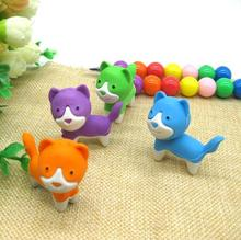 Free ship!1lot=36pc!Creative cartoon cute dog animal rubber eraser/ stationery for children students/gift toy eraser