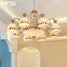 Gold chandeliers tiffany style antique lamp sconce tiffany light  conch glass for bedroom living room ceiling fixtures
