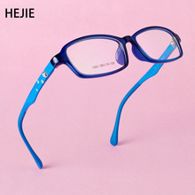 Classic Kids TR90 Eyeglasses Frames Clear Lens Flexible Spring Hinge For Boys Girls Children With Chain Size 50-15-128mm Y1074(China)
