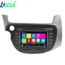LJDA Car DVD Auto GPS Navigation For Honda FIT JAZZ 2006-2013 Wince 8.0 Car Entertainment System Multimedia Player 8GB Free Map