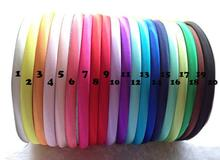 1cm Plain Solid colors Satin Covered Resin Hairbands,Ribbon Covered Adult Headbands Headband Satin Head Hoop(China)