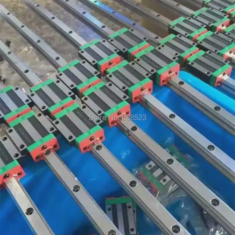 CNC Set 15-900mm 2x Linear Guideway Rail 4x Square type carriage bearing block