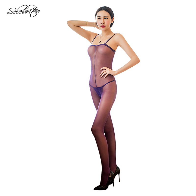 Selebritee Sexy Lingerie Womens Crotchless Bodystockings Sexy Bodysuit Body Stockings with Straps See Through Underwear Summer 8