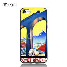 Old Soviet Armenia Industry Train Pop Art For iPhone 5 5s SE 6 6s 7 Plus Case TPU Phone Cases Cover Mobile Protection Decor Gift(China)