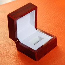 Wholesale and retail red solid wooden cases a single ring position and complex ring beautiful ring wooden case(China)