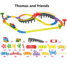 Thomas And Friends Electric Thomas Trains Set With Rail Toys For Children Boys Kids Toys Jugetes back to the future brinquedos(China)