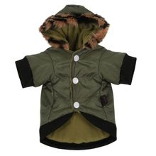 2017 2017 Waterproof Army Green Pet Clothes Big Dog Clothes Winter Warm Down Jacket Windbreaker Puppy Coat(China)