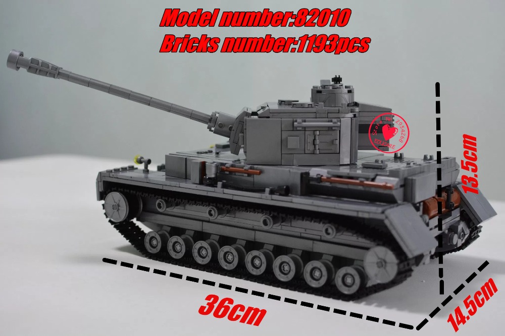 82010 1193pcs Century Military Tank Building Blocks Compatible With lego Military kid gift set Block Century PZKPFW-II Tank Toy<br>