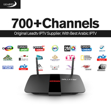 Smart TV Box Android Set Top Box with 1 Year LEADTV Subscription Channels HD IPTV Europe Arabic French Dalletek Arabic iptv Box