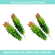 INDIGO- 10pcs Mini Wheat Sprays Artificial Succulent Plant Plastic Green Flower Table Decoration Free Shipping