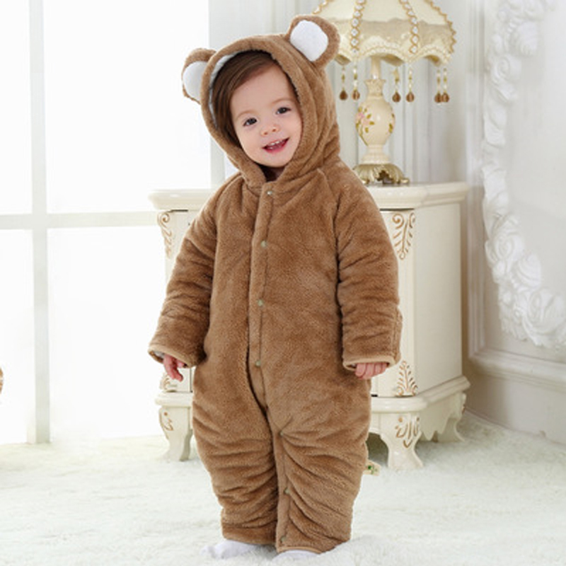 2016 The New Baby Cotton Rompers Thickening Conjoined Ha Garments Baby Clothes To Climb The Jumpsuits Long Sleeved Kids Clothing<br>