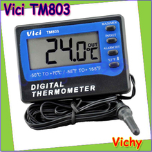 Wholesale 1pc Vici VICHY TM803 LCD Digital Fridge / Freezer Thermometer Temperature Meter with Alarm Measuring -50~70 Centigrade