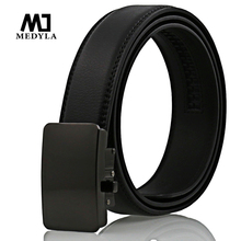 MEDYLA In the new hot selling leather belt man's belt belts automatic buckle belt real cowhide leisure business 100% cow leather(China)