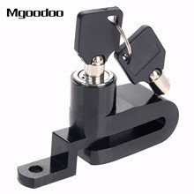 Mgoodoo New Motorcycle Bike Bicycle Disc Brake Lock Security Anti-theft Alarm Lock Motorcycle Theft Protection Stainless Alloy