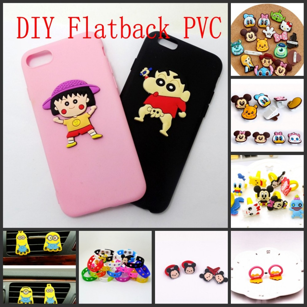 10PCS-TSUM-TSUM-Mickey-Minnie-Bear-Cartoon-PVC-Flatback-DIY-PVC-Shoe-Charms-Phone-Shell-Decoration (1)