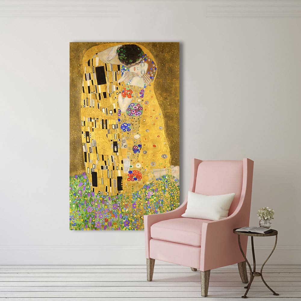 2018 Wang Art Golden Kiss Gustav Klimt Paintings Reproduction On ...
