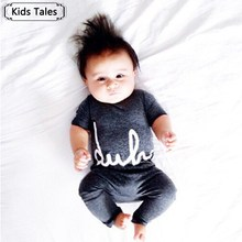 SR075 2017 new arrival kid's baby rompers boys girls kids summer one piece jumpsuit letter printed high quality