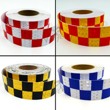 5cm X 50m Acrylic Adhesive Shining Reflective Warning Tape / Square Printing reflective tape for cars safety(China)