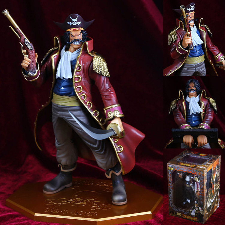One Piece the Pirate King Gol D Roger Gold Roger POP P.O.P PVC Action Figure 10th Anniversary Collection Model Toy B584<br>