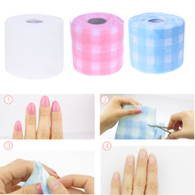 180*10cm Cotton Roll Nail Art Cleansing Manicure Disposable Cotton Cloth Nail Polish Remover UV Gel Nail Glue Cleaning Cloth