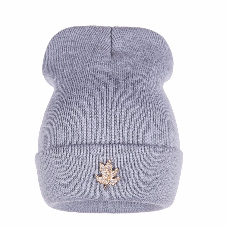 Ralferty Casual Crystal Leaf Beanie Winter Hats For Women Skullies Caps Female Chapeu Toca bonne gorras bonnet Cap Men Snowboard 5