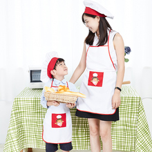 Kids Costume Sets Chef Hat and Apron Kit Children's Early Education Adult Children Kitchen Apron Sets Art Photography Apron Kits