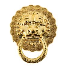 DRELD 12Pcs Antique Furniture Handle Lion Head Furniture Door Cabinet Dresser Drawer Pull Handle Knob Ring Furniture Fittings