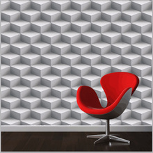Modern 3D Wallpapers Personalized Lattice 3D Wall Murals Vinyl Wallpaper Roll PVC Waterproof Background Wall Paper for Walls(China)