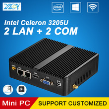 Mini PC Celeron 3205 2*LAN 2*COM 4*usb3.0 using pfsense as router firewall ddr3 fanless PC Integrated Graphics