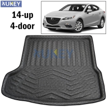 Car Accessories Rear Trunk Liner Cargo Boot Mat Floor Tray Carpet Mud Kick Pad For Mazda 3 Mazda3 4-Dr Sedan 2014 2015 2016 2017(China)