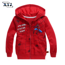 2017 Children Boys Outerwear Clothing Coats Spiderman Jacket Boy Hoodies Spider-man Coat Baby Kids Sweatshirts Zipper Sweatshirt(China)