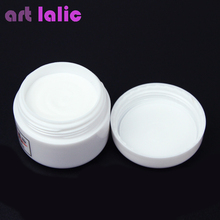 1pcs Nail Polymer Acrylic Powder Crystal Nail Art Tips Builder CLEAR PINK WHITE See Through Color(China)