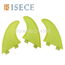 Colorful Honeycomb Core FCS surfboard fins Fiberglass FCS G5 Thruster Fin(China)