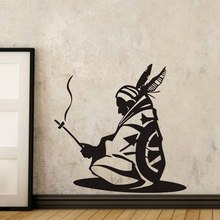 EHOME Native American Wall Decal Vinyl Stickers Indian Iroquois Wall Stickers Home Decor Living Room